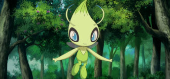 Celebi grass-type Pokemon flying