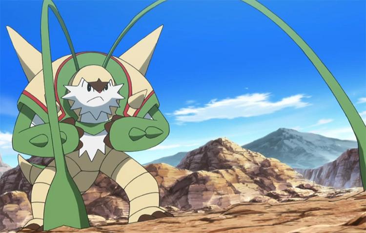 Chesnaught anime screenshot