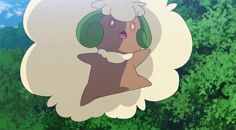 Whimsicott floating white ball Pokemon