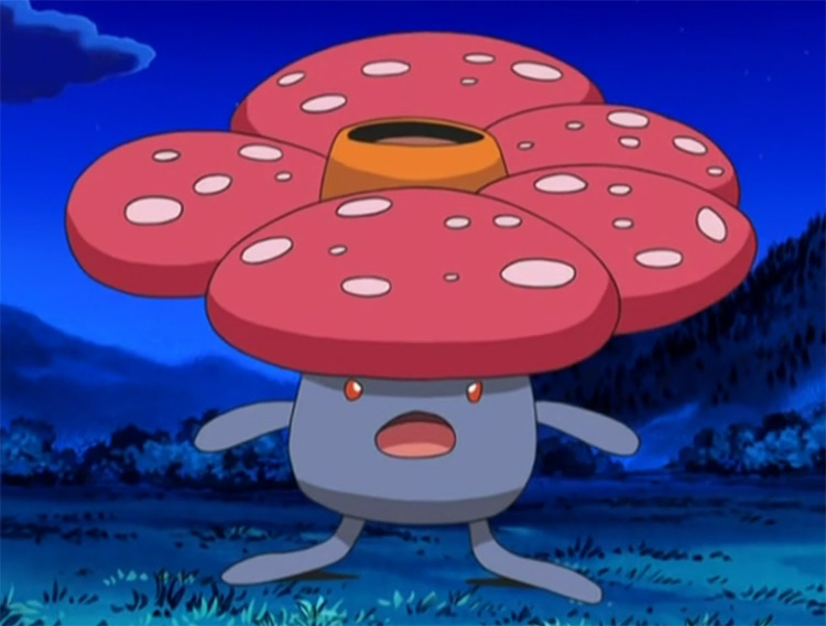 Vileplume red flower Pokemon anime screenshot