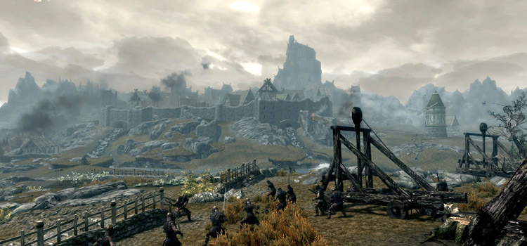 Skyrim Whiterun - skyline in-game screenshot