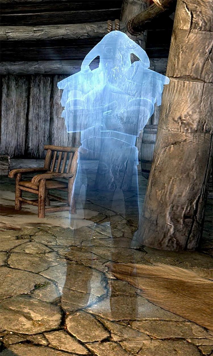 Screenshot: The Ghost of Old Hroldan Skyrim Quest