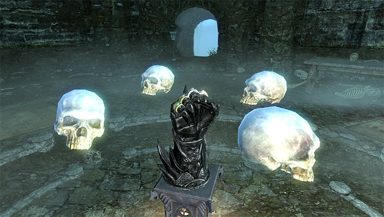 Screenshot: Forgotten Names Skyrim Quest