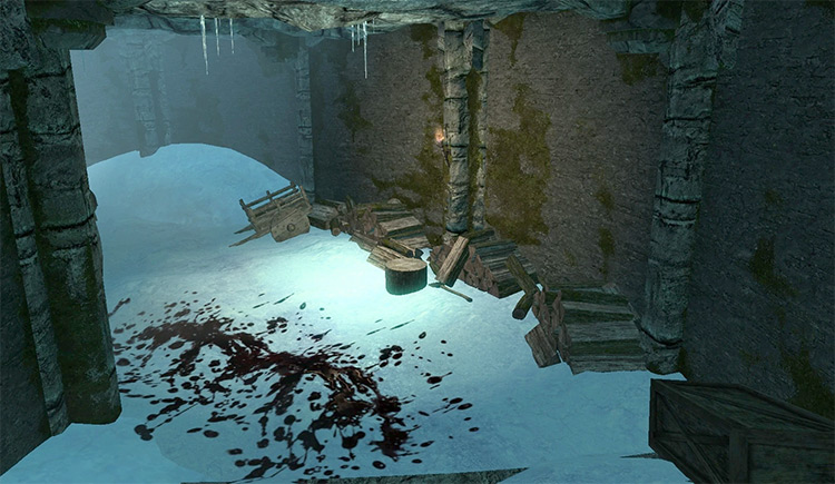 Screenshot: Frostflow Abyss Skyrim Quest