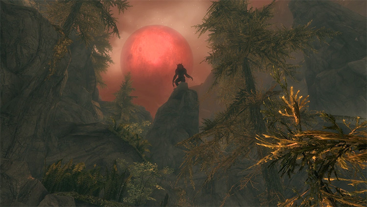 Screenshot: Ill Met By Moonlight Skyrim Quest