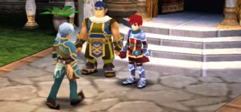 Ys Seven characters - in-game screenshot on PSP
