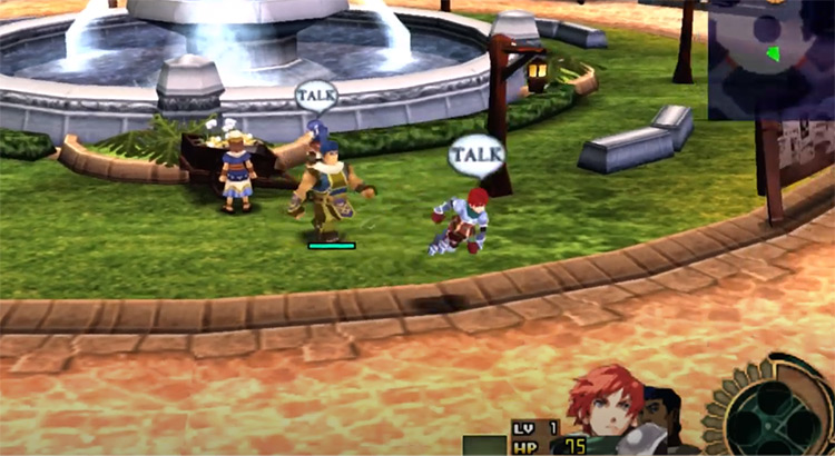 Ys Seven town team - PSP Screenshot
