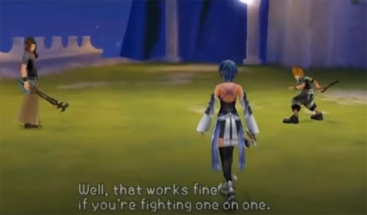 Kingdom Hearts: Birth by Sleep on PSP