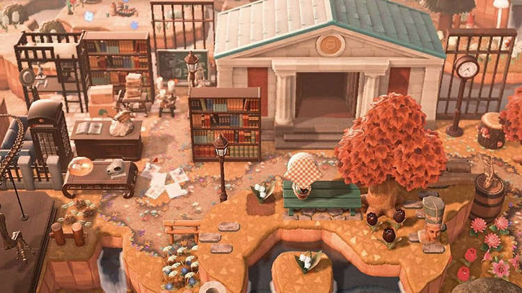 Blathers Study Area Outside Museum in ACNH