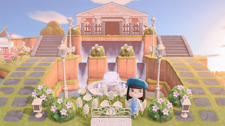 Rococo art styled museum in ACNH