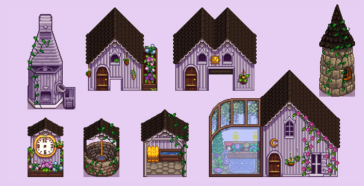 Gothic Buildings for Stardew Valley