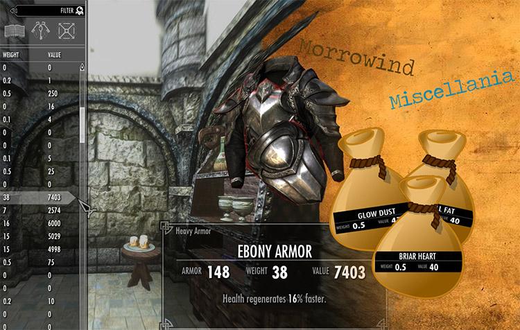 Morrowind Miscellania Mod for Skyrim