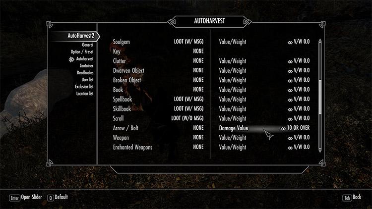Auto Harvest II Mod for Skyrim