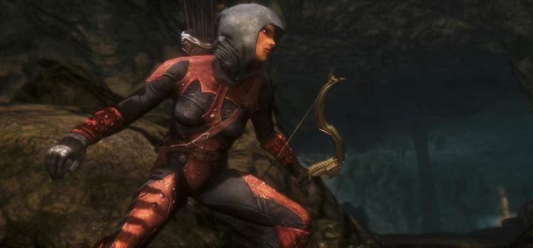 Wood Elf Dark Brotherhood Archer in Skyrim