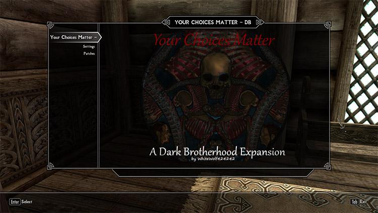 Dark Brotherhood Choices Matter Mod