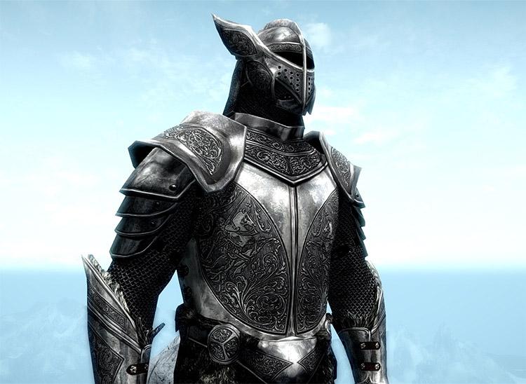 Silver Knight Armor Mod for Skyrim