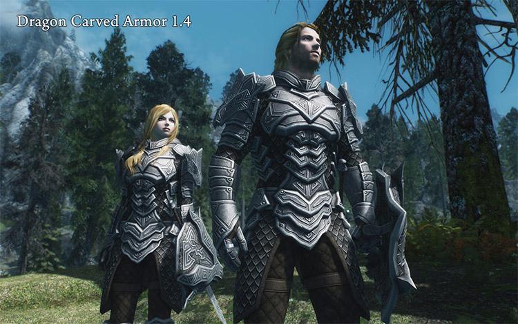 Dragon Carved Armor Mod for Skyrim