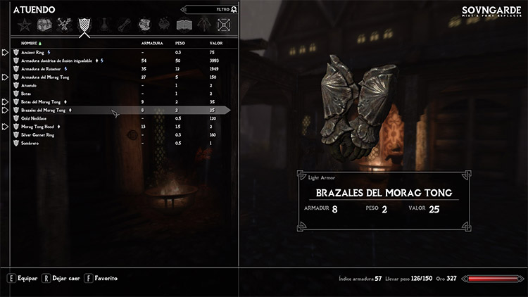 Sovngarde Font Mod for Skyrim