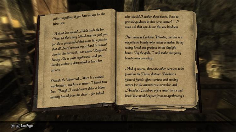 Alternate Book Fonts Mod for Skyrim