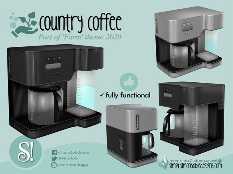 Country Coffee Machine for Sims 4