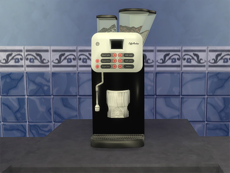 Coffee Machine Décor Item for Sims 4