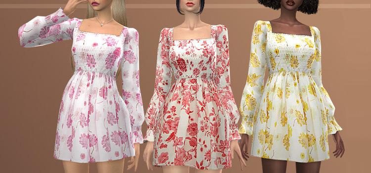 Casual Sweet Summer Day Dress / TS4 CC