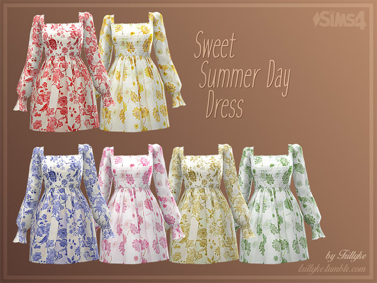 Sweet Summer Day Dress Collection / TS4 CC
