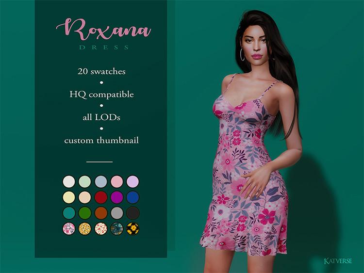 Roxana Dress Preview / Sims 4 CC