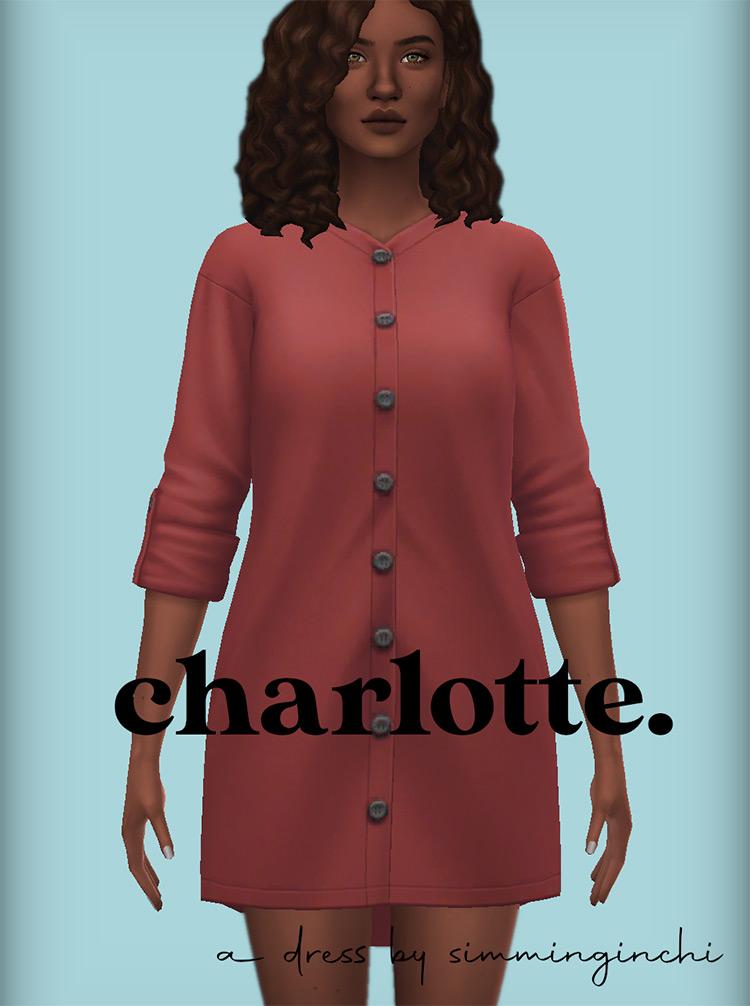 Charlotte Dress Design / Sims 4 CC
