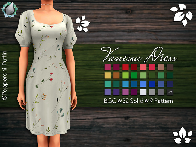 Vanessa Dress for Sims 4