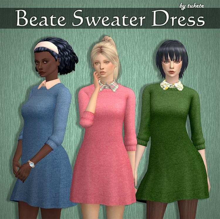 Beate Sweater Dress Set / Sims 4 CC