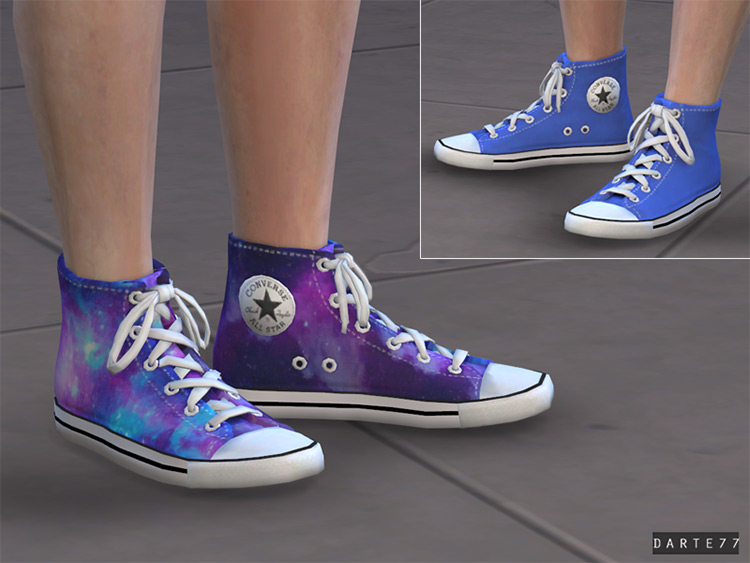 Converse All Star Sneakers for Females / Sims 4 CC