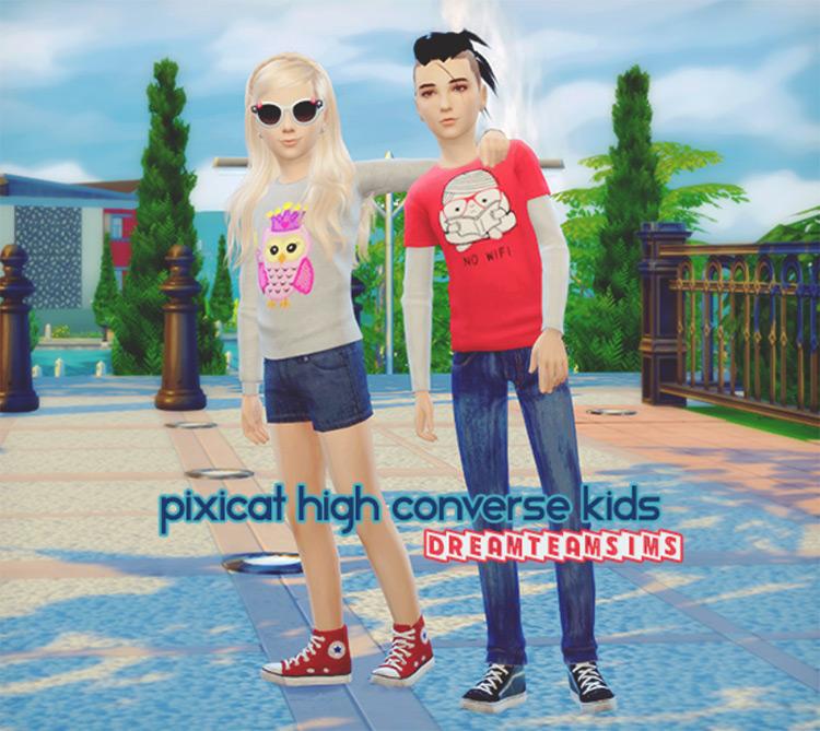 Hightop Converse for Kids / TS4 CC