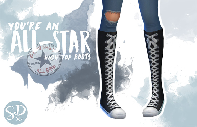 You're an All Star High Top Boots / Sims 4 CC