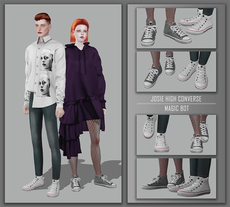 Josie High Converse / Sims 4 CC