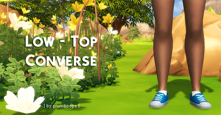 Low-Top Converse for The Sims 4