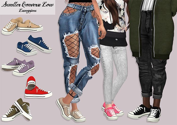 Low Converse Realistic Shoes / TS4 CC