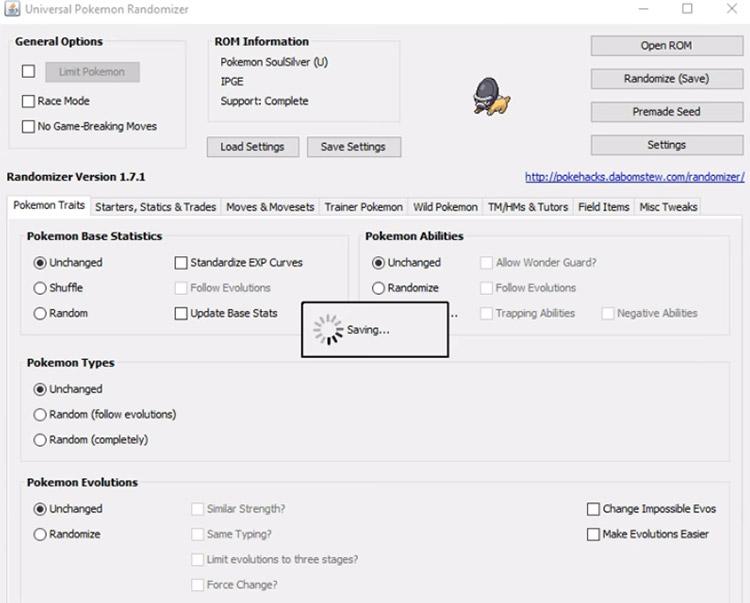 Universal Pokémon Randomizer Hack