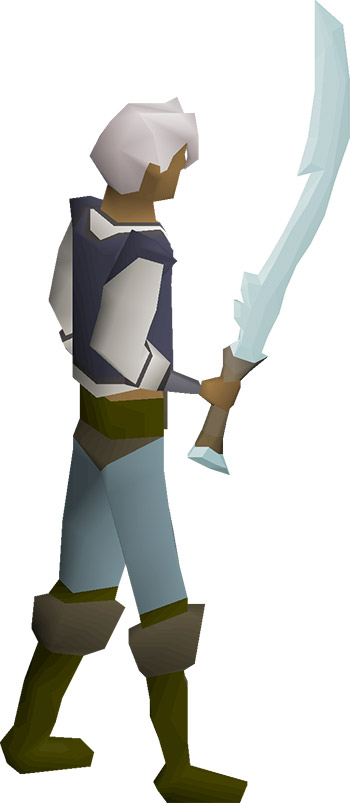 Blade of Saeldor Equpped in OSRS