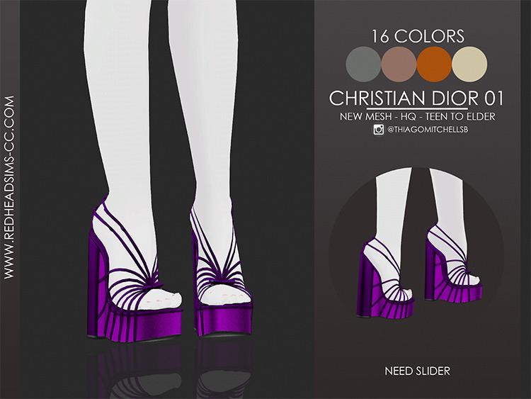 Christian Dior Wedge Heels / Sims 4 CC
