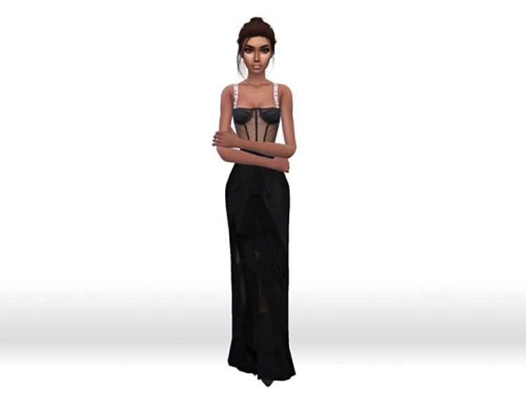 Christian Dior Tulle Corset Dress / TS4 CC