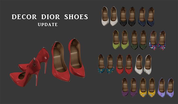 Christian Dior Red High Heels / Sims 4 CC