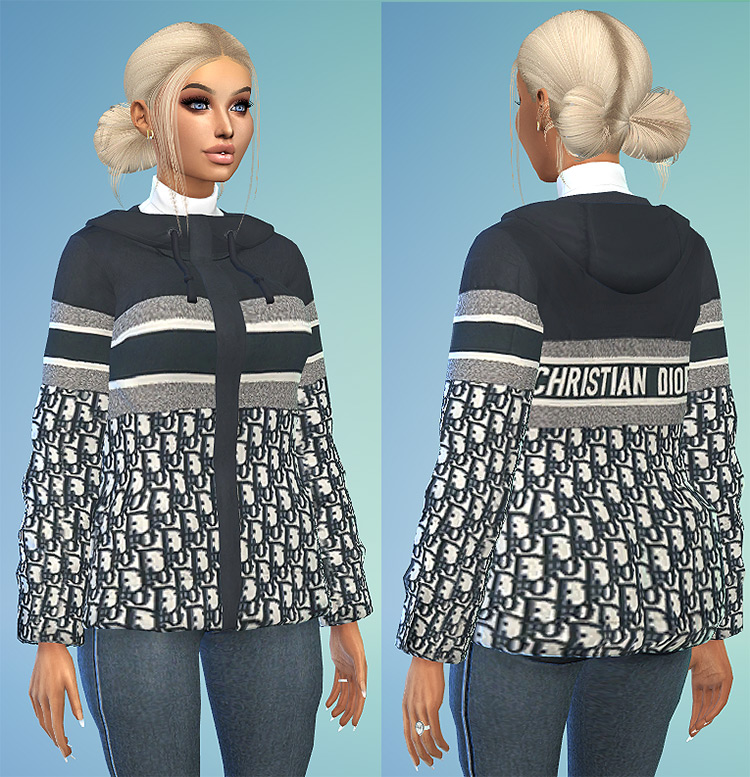Dior Coat Design for The Sims 4