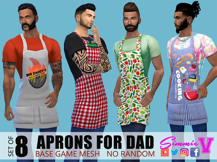 Aprons for Dad / Sims 4 CC