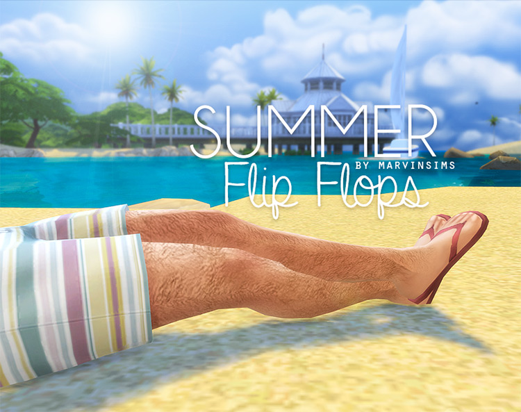 Summer Flip Flops For Dad / Sims 4 CC