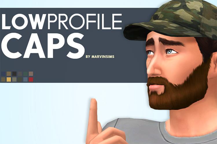Low Profile Caps / Sims 4 CC