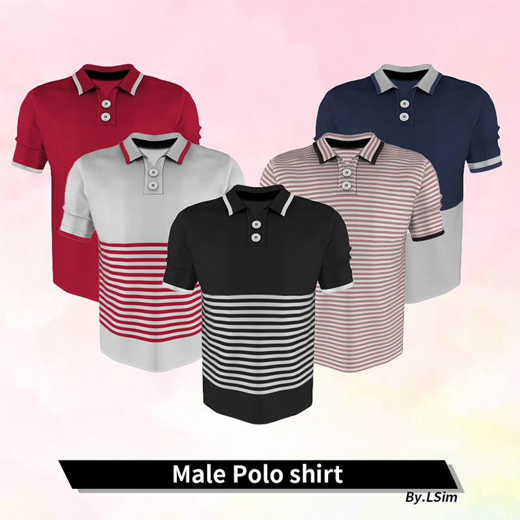 Polo Shirt Dad Style for The Sims 4