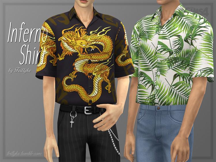 Inferno Shirt / Sims 4 CC