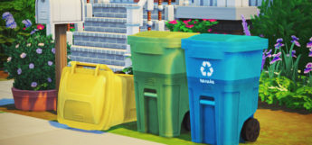 Street Recycling & Trash Can Recolors / Sims 4 CC