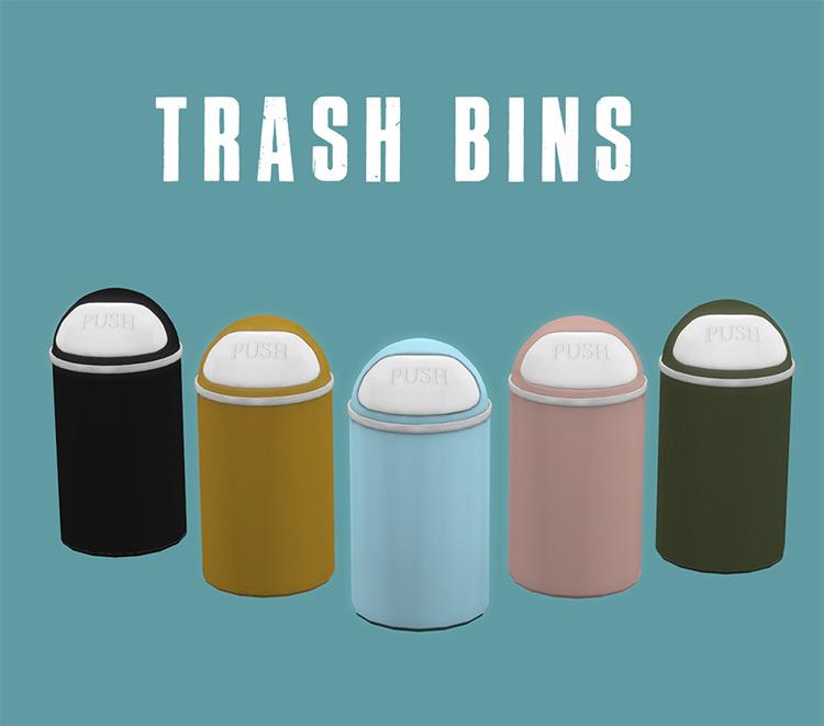 Trash Bins Set / Sims 4 CC